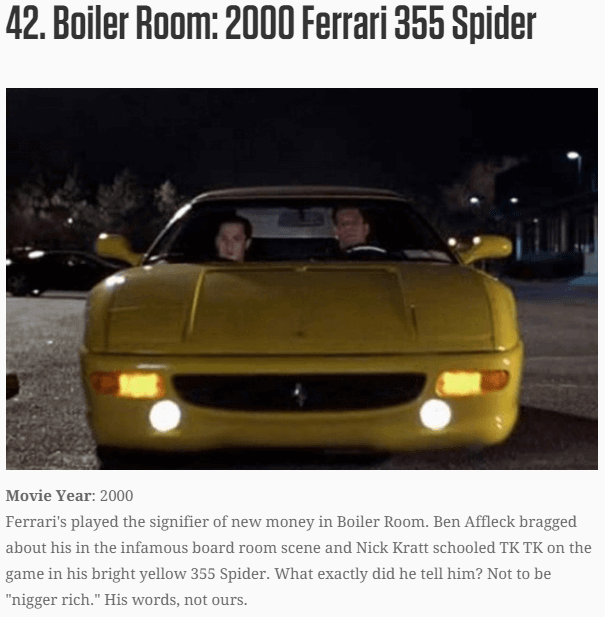 The 50 Best Car Commercials Of All Time: The 50 Best Movie Cars Of All Time