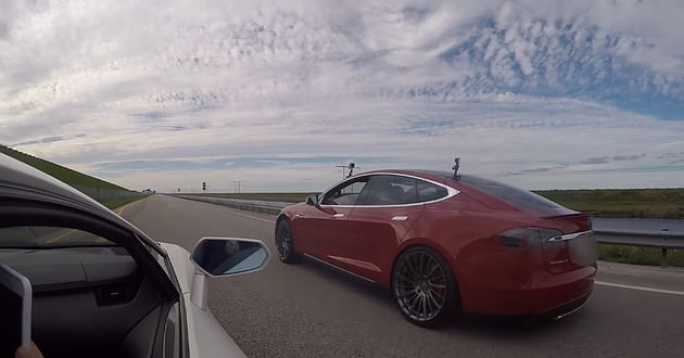 Watch Tesla Model S P90d Ludacris Mode Vs Lamborghini Aventador Lp700 4 W Mods Exotic Whips Tv