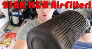 clean k&n air filter